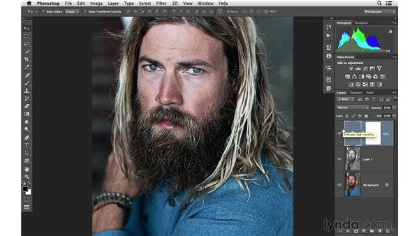 Creating a desaturated effect: Photoshop CC for Photographers: Intermediate