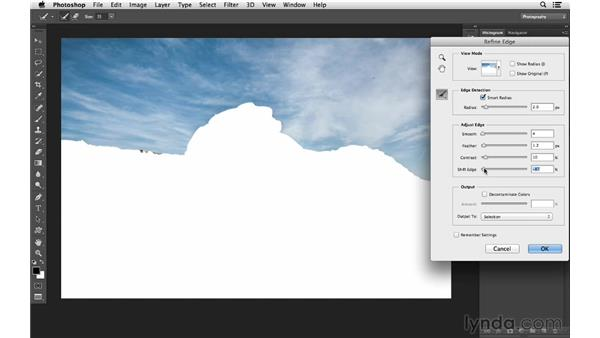 Fixing an overexposed sky with Camera Raw and masking: Photoshop CC for Photographers: Intermediate