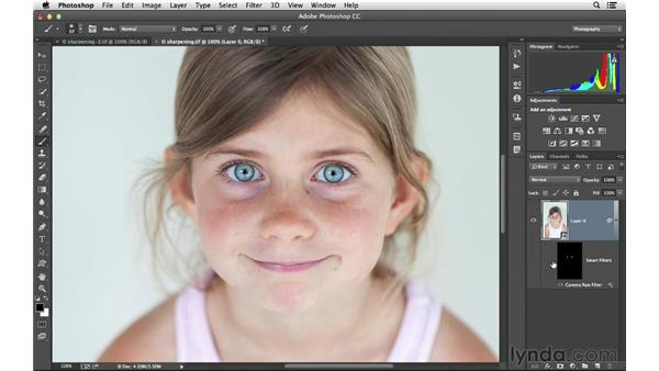 Selective sharpening with Camera Raw and masks: Photoshop CC for Photographers: Intermediate