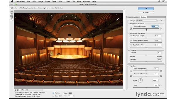Using the Lens Correction filter: Photoshop CC for Photographers: Intermediate