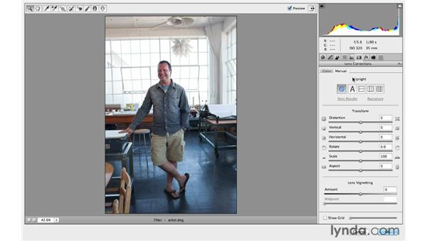 Using Upright in Camera Raw to easily correct distortion: Photoshop CC for Photographers: Intermediate