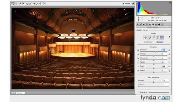 Digging deeper into the Camera Raw lens correction controls: Photoshop CC for Photographers: Intermediate