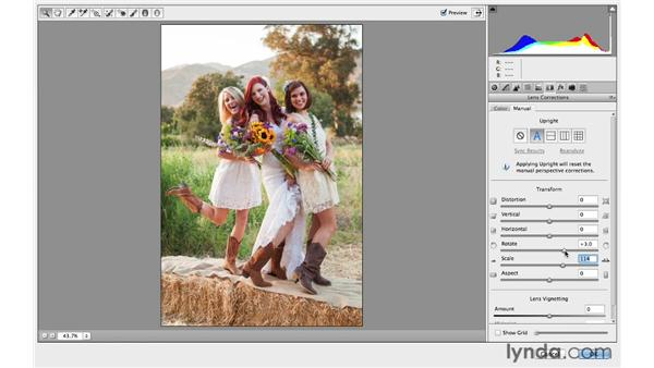 Using the Camera Raw lens correction controls for creative results: Photoshop CC for Photographers: Intermediate