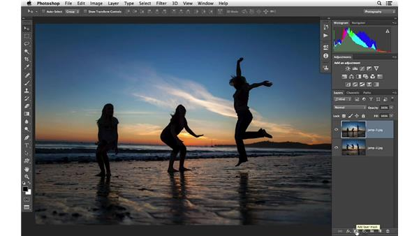 Combining two photos with movement: Photoshop CC for Photographers: Intermediate