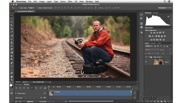 Opening up a video file in Photoshop: Photoshop CC for Photographers: Intermediate