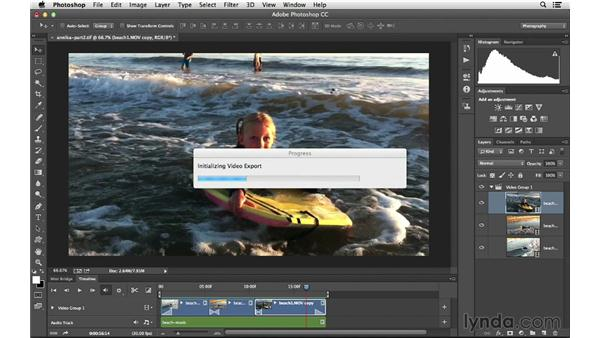 Exporting your project: Photoshop CC for Photographers: Intermediate