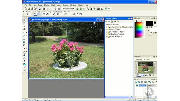 exploring the interface: Learning Jasc Paint Shop Power Suite Photo Edition