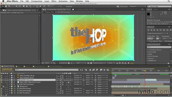 Advanced editing techniques: Mograph Techniques: Animating to Music