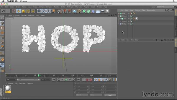 Rigging the mograph build: Mograph Techniques: Animating to Music