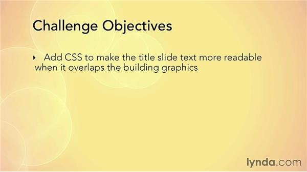 Challenge: Creating a responsive text shadow: HTML5 Projects: Creating a Responsive Presentation