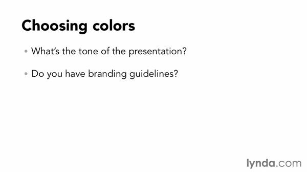 Choosing the right colors: Designing a Presentation