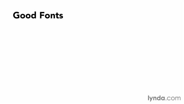 Choosing the right fonts: Designing a Presentation