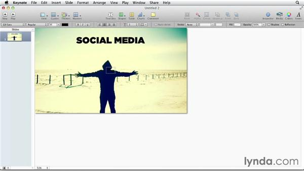 Using images as a background: Designing a Presentation