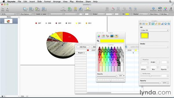 Creating charts and graphs: Keynote: Designing a Presentation