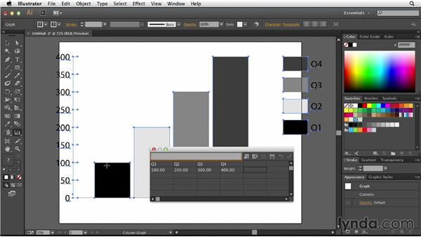 Creating charts and graphs: Illustrator: Designing a Presentation