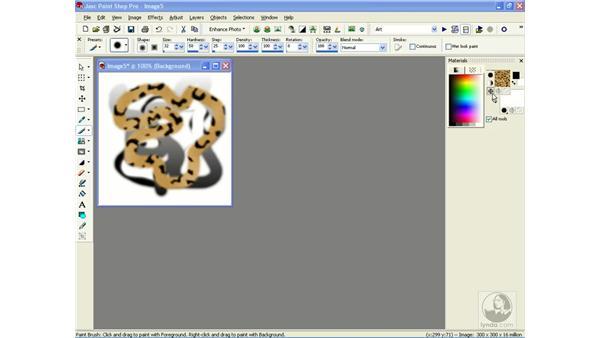 the materials palette: Learning Jasc Paint Shop Power Suite Photo Edition