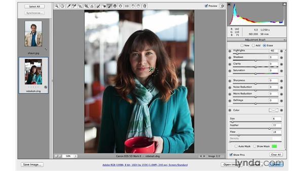 Brightening shadows and darkening highlights: Photoshop CC for Photographers: Camera Raw 8 Intermediate