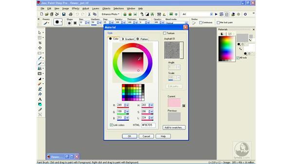 choosing colors: Learning Jasc Paint Shop Power Suite Photo Edition
