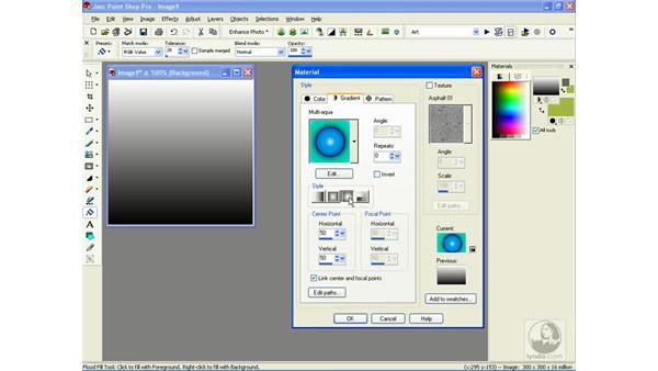 choosing gradients: Learning Jasc Paint Shop Power Suite Photo Edition