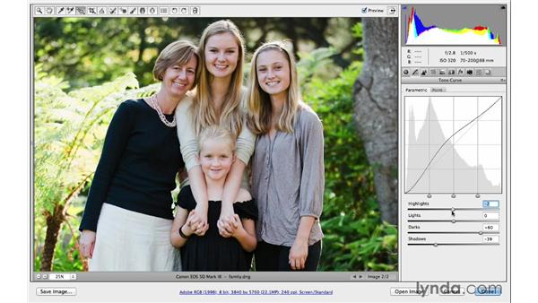 Improving your photographs with curves: Photoshop CC for Photographers: Camera Raw 8 Intermediate