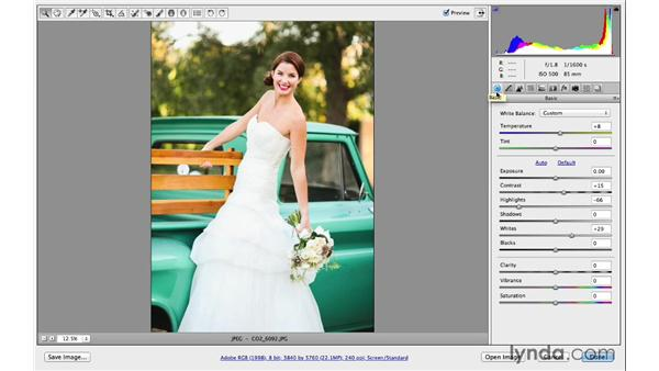 Using the Point curve to correct exposure: Photoshop CC for Photographers: Camera Raw 8 Intermediate