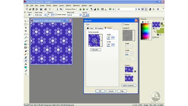choosing patterns: Learning Jasc Paint Shop Power Suite Photo Edition