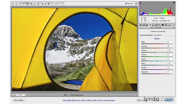 Using the Basic and HSL panels together: Photoshop CC for Photographers: Camera Raw 8 Intermediate