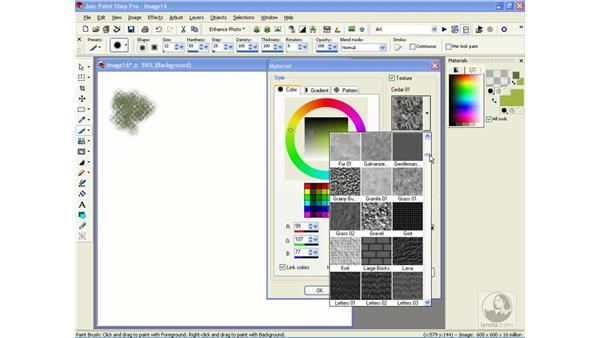 choosing textures: Learning Jasc Paint Shop Power Suite Photo Edition