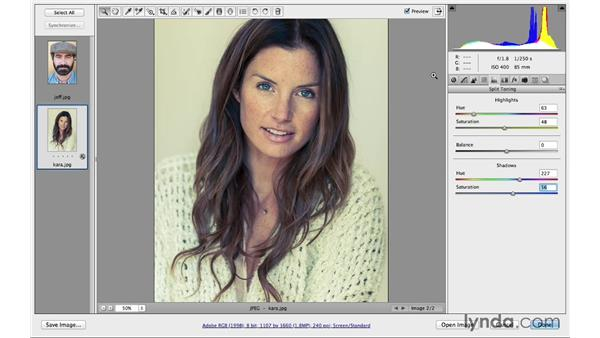 Split toning a color photograph: Photoshop CC for Photographers: Camera Raw 8 Intermediate