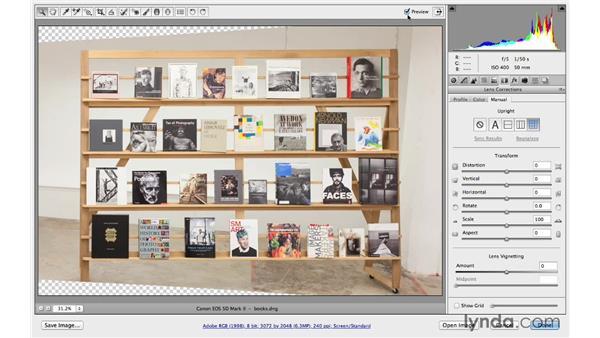 Adding a darkening vignette effect: Photoshop CC for Photographers: Camera Raw 8 Intermediate