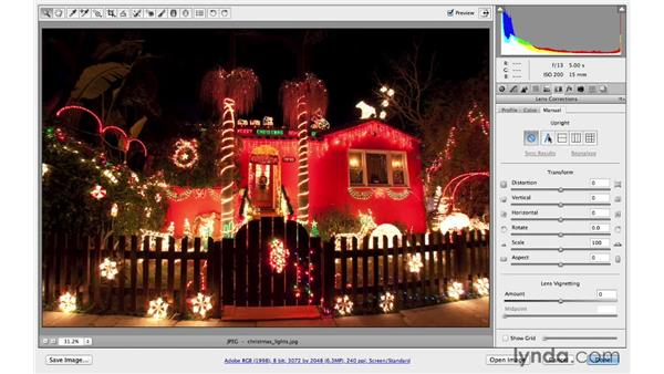 Combining lens corrections with creative cropping: Photoshop CC for Photographers: Camera Raw 8 Intermediate