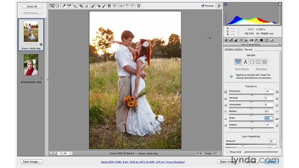 Adding distortion for a creative effect: Photoshop CC for Photographers: Camera Raw 8 Intermediate