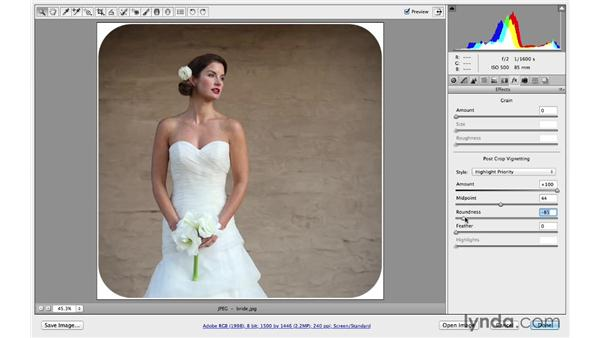 Introducing post-crop vignetting: Photoshop CC for Photographers: Camera Raw 8 Intermediate