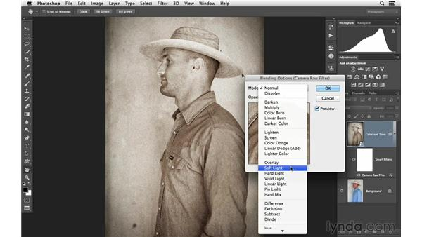 Advanced effects blending with Photoshop: Photoshop CC for Photographers: Camera Raw 8 Intermediate