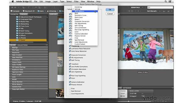 Applying raw processing in Bridge: Photoshop CC for Photographers: Camera Raw 8 Intermediate
