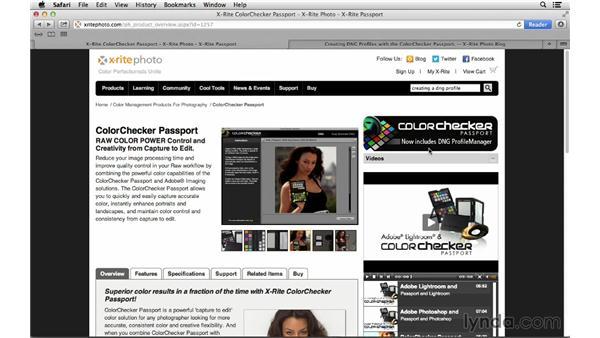 Camera calibration resources: Photoshop CC for Photographers: Camera Raw 8 Intermediate