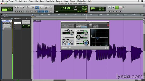 Cutting frequencies: Music Production Secrets: Larry Crane on Mixing