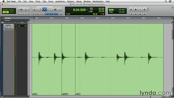 Preparing the drum tracks for mixing: Music Production Secrets: Larry Crane on Mixing