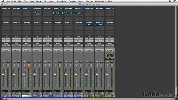 Gating audio for noise elimination: Music Production Secrets: Larry Crane on Mixing