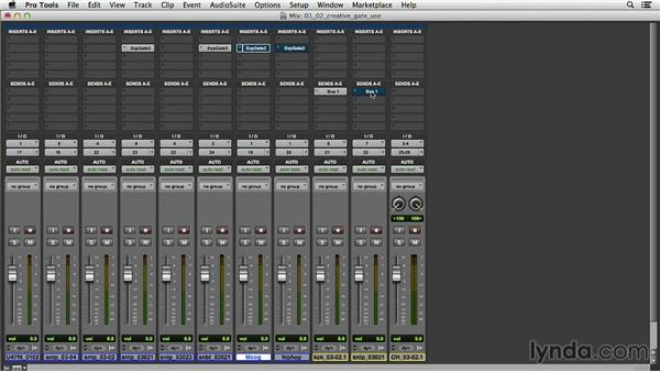 Gating audio for creative and musical purposes: Music Production Secrets: Larry Crane on Mixing
