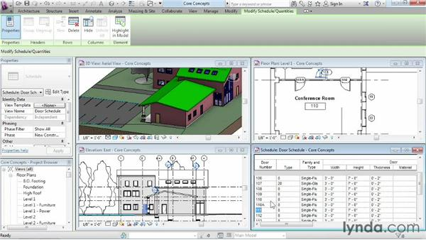 Working in one model with many views: Revit Architecture 2014 Essential Training