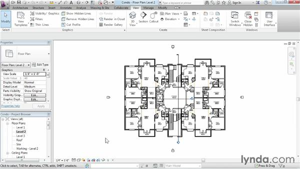 Using the Project Browser: Revit Architecture 2014 Essential Training