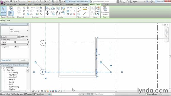 Refining a layout with temporary dimensions: Revit Architecture 2014 Essential Training
