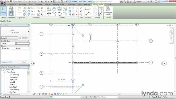 Adding columns: Revit Architecture 2014 Essential Training