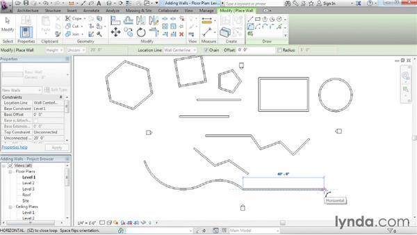 Adding walls: Revit Architecture 2014 Essential Training