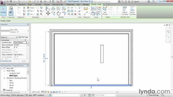 Wall properties and types: Revit Architecture 2014 Essential Training