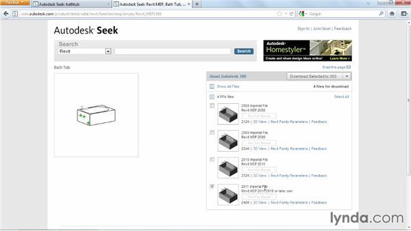 Using Autodesk Seek: Revit Architecture 2014 Essential Training