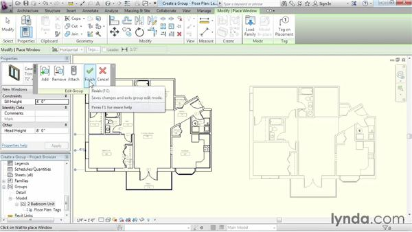 Creating a group: Revit Architecture 2014 Essential Training