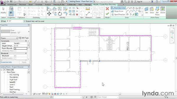 Working with floors: Revit Architecture 2014 Essential Training