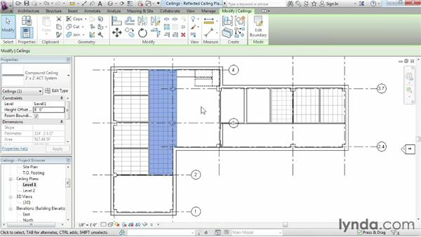 Working with ceilings: Revit Architecture 2014 Essential Training